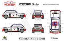 [FFSMC Productions] Decals 1/18 Renault 5 Turbo Tour de Corse 1982
