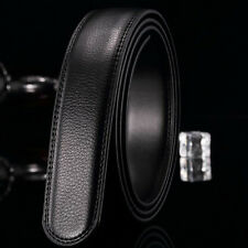 Black Men Luxury Genuine Leather Belt Wristband Strap Without Automatic Buckle
