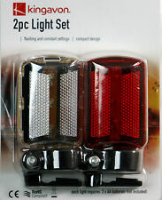 NEW BICYCLE LIGHT SET FITS ANY BICYCLE PUSH BIKE Easy Brackets included