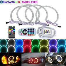 4Pcs 131MM RGB LED Angel Eyes Halo Ring for BMW E36 E39 E46 M3 E38 Bluetooth +IR