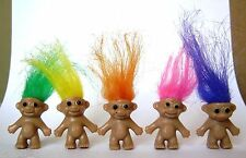 """Lucky Troll Doll 1"""" lot of 5 DIY project NEW"""