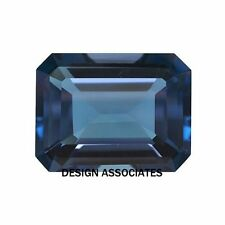 NATURAL LONDON BLUE TOPAZ 11x9 MM EMERALD CUT AAA