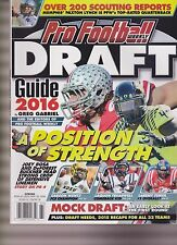 PRO FOOTBALL WEEKLY DRAFT GUIDE 2016, A POSITION OF STRENGTH.