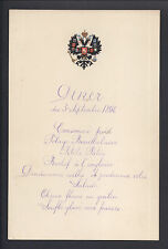 Imperial Russian Royal Menu for Tsar Nicholas II Livadia Chef Pierre Cubat 1898