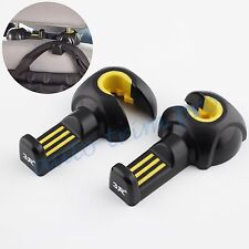 2pcs Universial Car Seat Hook Headrest Holder Hanger For Bag Inner Accessories