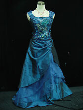 Cherlone Blue Ballgown Wedding/Evening Formal Bridesmaid Full Length Dress 24-26