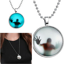 Fashion Charms Glow in the Dark Necklace Pendant Stainless Steel Chain Jewelry