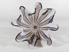 VENINI Fazzoletto ° 50's Murano xl Glas Taschentuchvase mit Ätzmarke ° (13)