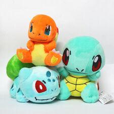 3 Pokemon Plüschtiere Plüsch Plush Figuren Set Glumanda Shiggy Bisasam
