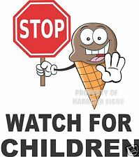"Stop Watch for Children Vinyl Decal 14"" Concession Ice Cream Food Truck Cart"
