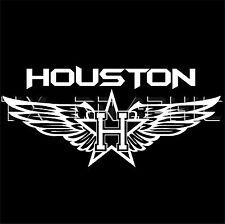 HOUSTON DECAL  VINYL STICKER TEXAS TEXANS FLY WING H-TOWN ASTROS