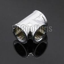 3 Way Fittings Female T G1/4 Threaded Copper Chromed For PC Liquid Cooling