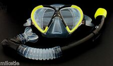 NEW WILCOMP Snorkelling/Diving Silicone Set WIL-DS-9Y         *100% dry snorkel