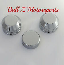 99-01-02-04-06-07 Hayabusa SMOOTH Chrome Fork Covers Caps & Yoke/Stem Nut Cap!