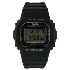 Casio Men's Black 1V G-Shock Classic Digital Stop Watch w/ Day & Date - DW5600E