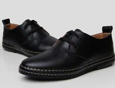 European style Genuine Leather Shoes Men's oxfords Casual Formal Dress Leisure