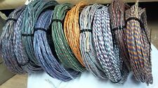 RARE 1940s 8 ft  coil of QUAD (4-wire) 22ga Western Electric cloth,SILK wire