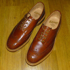 Trickers Bourton Derby CALATA Made in England, UK 9, Tan RRP £ 375 NUOVO