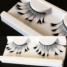 1 Paar Feder künstlich Falsche Wimpern Lang Kreuz False Eyelash Make Up