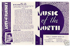 1935 Original Mailing - List of Most Popular Songs/Intro of Fred Allen, Comedian