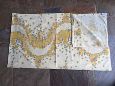 Vintage Dorma Double Flat Sheet - Yellow Flora 1960s/70s