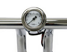 """Mini Tachometer with Handlebar Mount 48mm Bullet Style Fits 1 Inch Bars 1"""""""