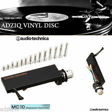 1 PORTE CELLULE AUDIO TECHNICA MG 10 MAGNÉSIUM HEADSHELL FIXATION TYPE SME
