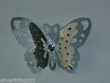 20 x LOVELY 3D PEARLESCENT BUTTERFLIES. MANY COLOURS. WEDDINGS/PARTIES
