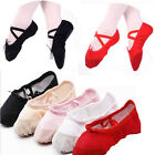 Child Adult Canvas Ballet Dance Shoes Slippers Pointe Gymnastics Fitness 25-42