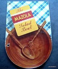 Vintage 1939 The Mazola Cooking Oil Salad Bowl Recipe 32 Page Booklet