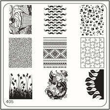 MoYou Nail Fashion Square Image Plate 405 Trendy Style Stamping Template