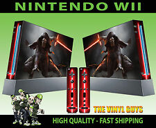 NINTENDO WII STICKER KYLO REN STAR WARS JEDI KNIGHT DARK SIDE SKIN GRAPHIC