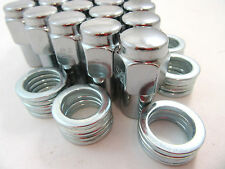 "20 Pc Set Chrome Steel Mag Shank Lug Nuts 1/2"" x 20 Right Hand Thread Mopar Ford"
