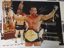 Mark Coleman Signed UFC 16x20 Photo PSA/DNA COA Pride FC Belt Picture Autograph