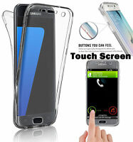 360 Full Body Shockproof Clear TPU Case Cover Guard For Samsung Galaxy Phones