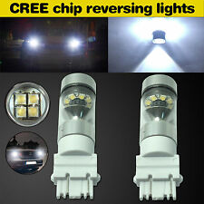 2)100W CREE LED 6000K High Power 3157 3757 Xenon White Backup Reverse Tail Bulb