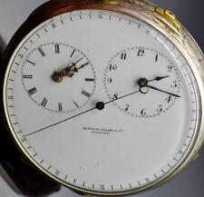 MUSEUM Chinese Duplex Captains 2 time zones silver watch.Sweep seconds hand.1850