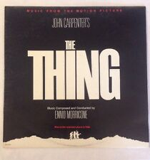 THE THING LP john carpenter Ennio Morricone OOP RARE 1982 Soundtrack MCA-6111