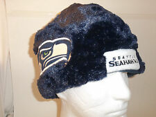 NWT SEATTLE SEAHAWKS NFL HELMET BEANIE HAT Winter PLUSH Tailgate PARTY Forever