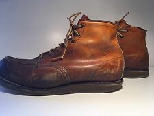 "Men's Vintage 6"" Red Wing #875 Crepe Sole Moc Toe Boots 14 D. Best Patina Ever"