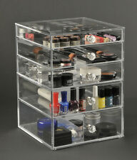 Clear Acrylic GlamoureBox 5 Drawer Pro Beauty Cube (A5R-K)