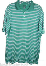ADIDAS CLIMACOOL Short Sleeve polo Golf shirt Size L Green Logo on Back