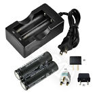2X 6000mAh 18650 3.7V li-ion Rechargeable Battery For Flashlight Torch + Charger