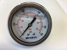 63mm Hydraulic Pressure Gauge BACK ENTRY 0-900 PSI 60 Bar Stainless GC6360/04