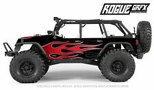 Axial SCX10 Rubicon or CRC Edition Body Graphic Wrap Skin- Hotrod Flames Red