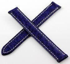 CARTIER Bracelet/Band Cuir pour Montre/Watch Colisée Baignoire 12/12mm Navy/Navy