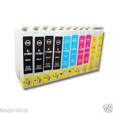 Kit 10 Cartucce Compatibili Per Epson WF2010W WF2510WF WF2520NF WF2530WF WF2540W