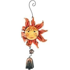 Sun Catcher Ornament Regal Art Stained Glass Sun With Bell And Face