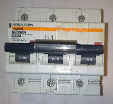 MERLIN GERIN NC100H D50A 50 A MAGNETOTERMICO CIRCUIT BREAKER 3 POLE  18510