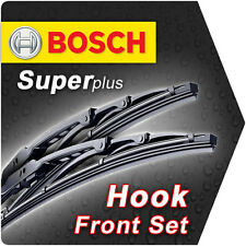 "22"" 19"" Bosch Superplus Front Retro Wiper Blades Genuine Set Id59"